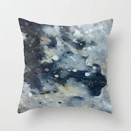 Dark Galaxy1 watercolour by CheyAnne Sexton Throw Pillow