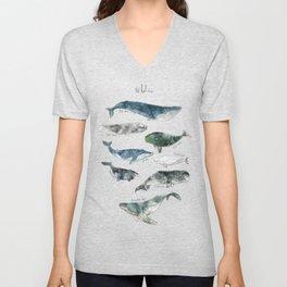 Whales Unisex V-Neck