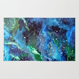Galaxy (blue/green) Rug