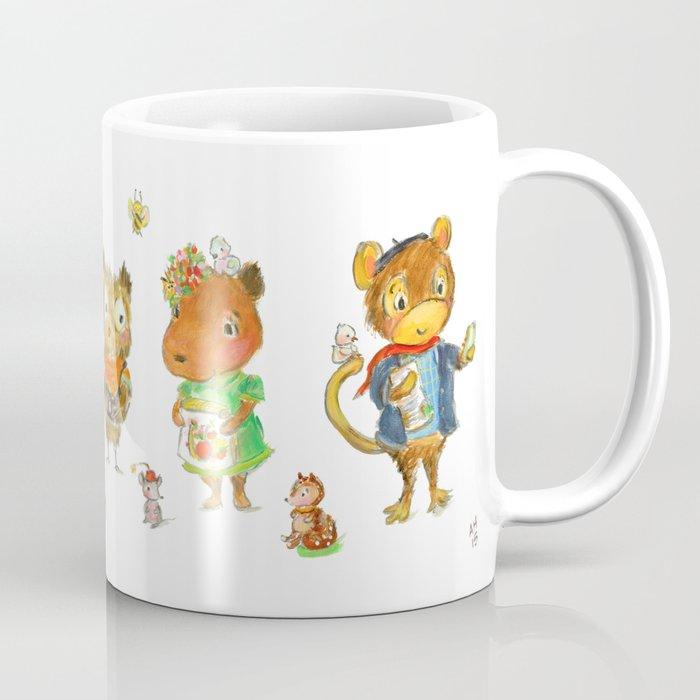 Capybara and friends Coffee Mug