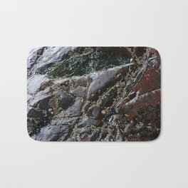 Ocean Weathered Natural Rock Texture with Barnacles Bath Mat
