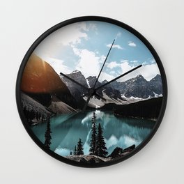 Lake Moraine Wall Clock