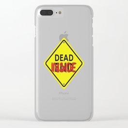 Don't Open Dead Inside Clear iPhone Case