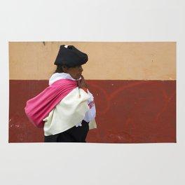 On an errand in Otavalo, Ecuador Rug