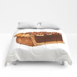 Pecan Pie Slice Comforters