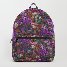Floral Abstract Stained Glass G175 Backpack