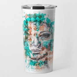 Abstract Portrait Travel Mug
