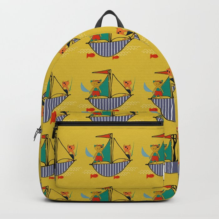 Pirate boat yellow Backpack