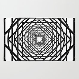 Diamonds in the Rounds B&W Rug
