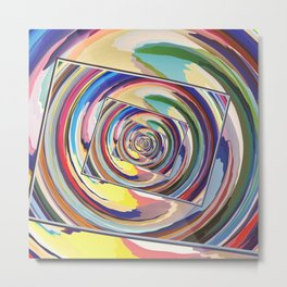 Spinning Colors Abstract Metal Print