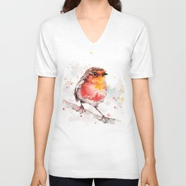 Adventure Awaits (Baby Robin Red Breast) Unisex V-Neck