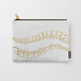 Gold Vertebrae Carry-All Pouch