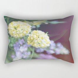 Garden blured flowers Rectangular Pillow