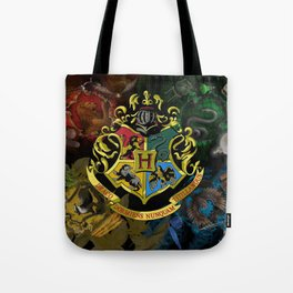 Hogwarts Logo Houses Tote Bag