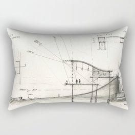 Architectural drawing Rectangular Pillow
