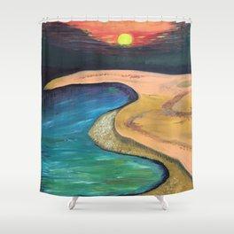 Sun set Shower Curtain