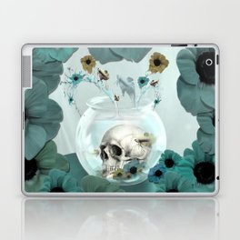 Looking glass skull Laptop & iPad Skin