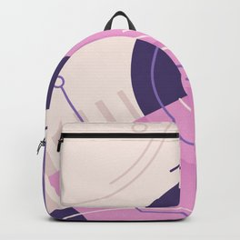 Modern geometric composition pink and blue Backpack