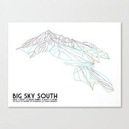 Big Sky, MT - Southern Exposure - Minimalist Trail Map Canvas Print