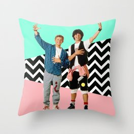 Bill and Ted Throw Pillow