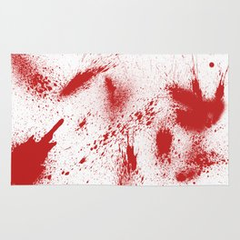 Bloody Blood Spatter Halloween Rug