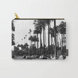Los Angeles Black and White Carry-All Pouch