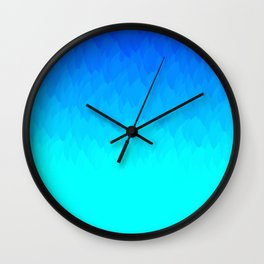 Blue ombre flames Wall Clock