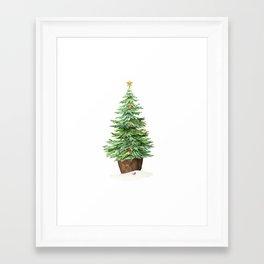 Trimming The Tree Framed Art Print
