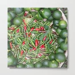 Small & Spicy Metal Print