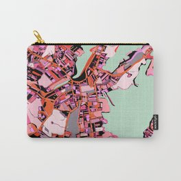 Abstract Map Salem MA Carry-All Pouch