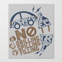 Drive Electric Canvas Print
