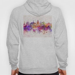 Cluj-Napoca skyline in watercolor background Hoody