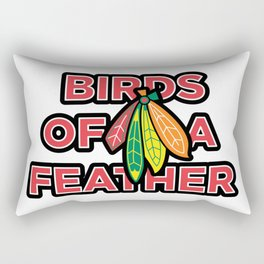 Birds of a Feather - Phish & Blackhawks Rectangular Pillow