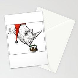 Christmas Rhino Stationery Cards