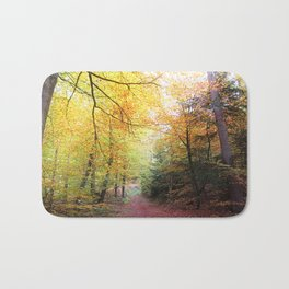 MM - Autumnally forest path Bath Mat
