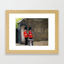 Two Guards Framed Art Print