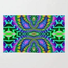 Tribal Rainbow Lotus Rug