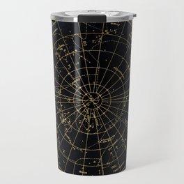 Golden Star Map Travel Mug