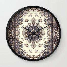 V8 Moroccan Epic Carpet Texture Design. Wall Clock