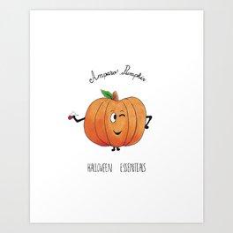 Amparo pumpkin Art Print