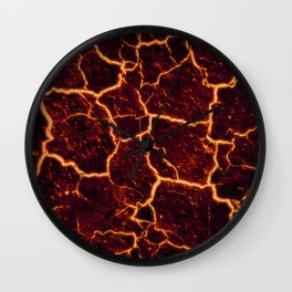 Lava Rocks Wall Clock
