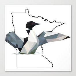 Minnesota – Common Loon Canvas Print