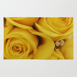 yellow roses Rug