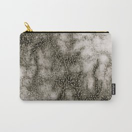 Gray Marble Pattern Black And Silver Vined Carry-All Pouch