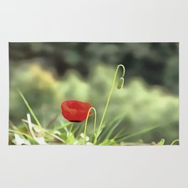 One Poppy Rug