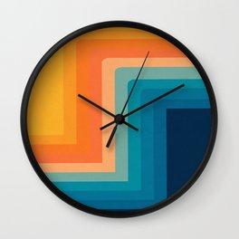 Retro 70s Color Lines Wall Clock