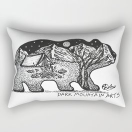 """Wander Bear"" Hand-Drawn by Dark Mountain Arts Rectangular Pillow"