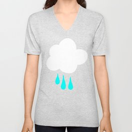 Rain Cloud Pattern Unisex V-Neck