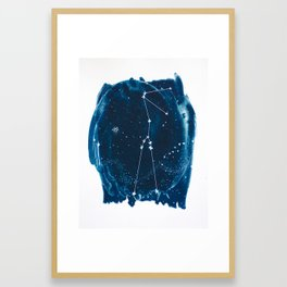 Taurus Zodiac Print Framed Art Print