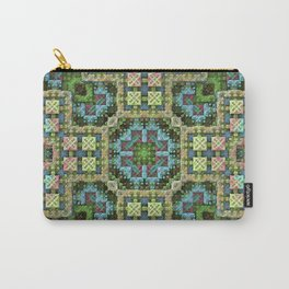 """Needlepoint Sampler"" (3D Fractal) Carry-All Pouch"